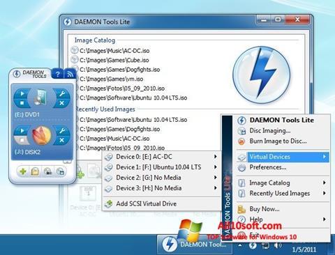 Skjermbilde DAEMON Tools Lite Windows 10