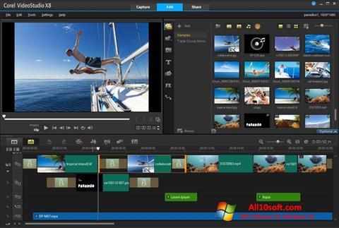 Skjermbilde Corel VideoStudio Windows 10