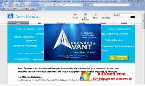 Skjermbilde Avant Browser Windows 10