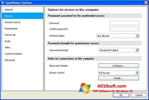 Skjermbilde TeamViewer Windows 10