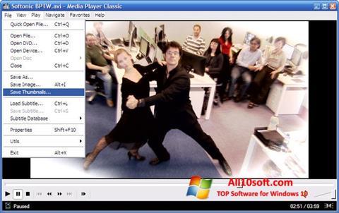 Skjermbilde Media Player Classic Windows 10