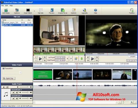 Skjermbilde VideoPad Video Editor Windows 10