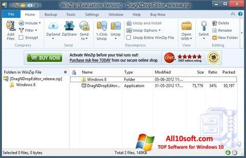 Skjermbilde WinZip Windows 10