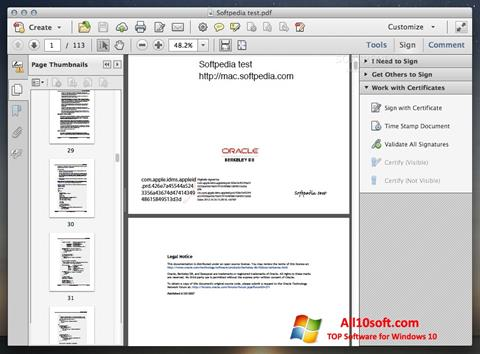 Skjermbilde Adobe Acrobat Windows 10