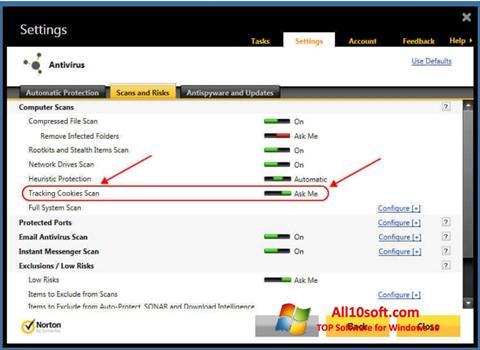 Skjermbilde Norton Windows 10