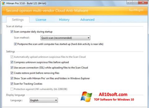Skjermbilde HitmanPro Windows 10