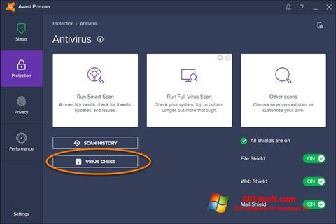 Skjermbilde Avast Windows 10