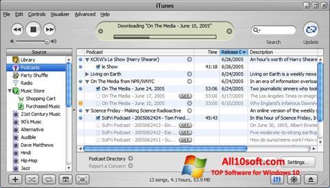 Skjermbilde iTunes Windows 10