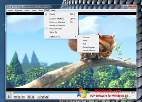 Skjermbilde VLC Media Player Windows 10