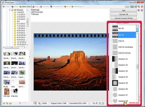 Skjermbilde PhotoScape Windows 10
