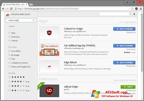 Skjermbilde uBlock Windows 10