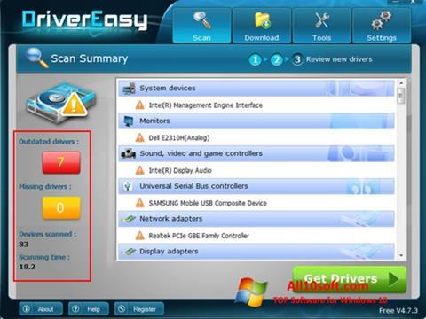 Skjermbilde Driver Easy Windows 10