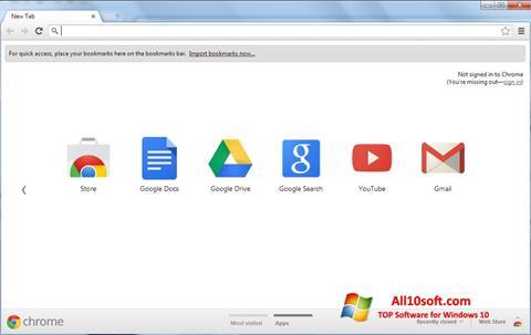 Skjermbilde Google Chrome Windows 10