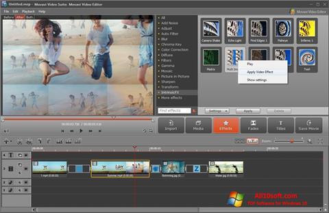 Skjermbilde Movavi Video Suite Windows 10