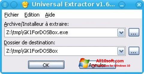 Skjermbilde Universal Extractor Windows 10
