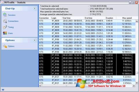 Skjermbilde DUTraffic Windows 10