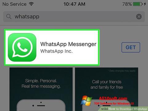 Skjermbilde WhatsApp Windows 10