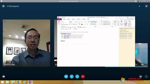 Skjermbilde Skype for Business Windows 10