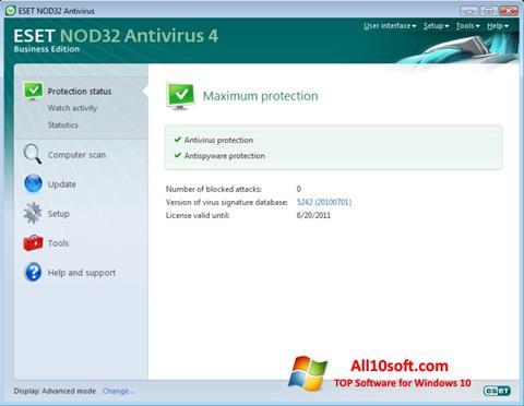 Skjermbilde ESET NOD32 Windows 10