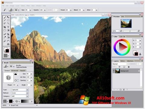 Skjermbilde Artweaver Windows 10
