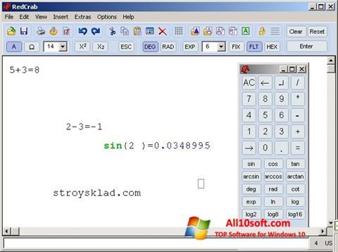 Skjermbilde RedCrab Calculator Windows 10