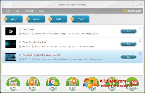 Skjermbilde Freemake Video Converter Windows 10