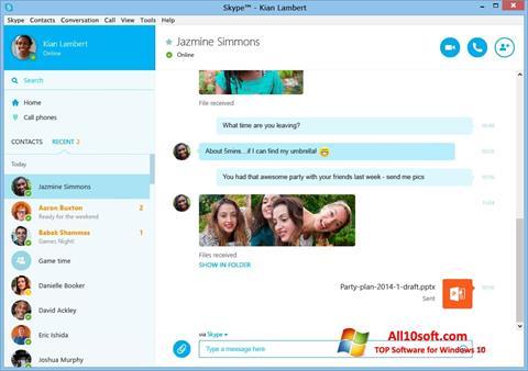 Skjermbilde Skype Windows 10