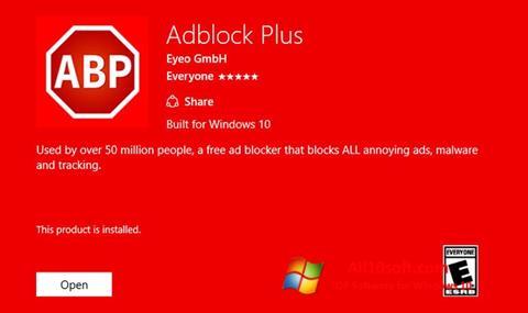 Skjermbilde Adblock Plus Windows 10