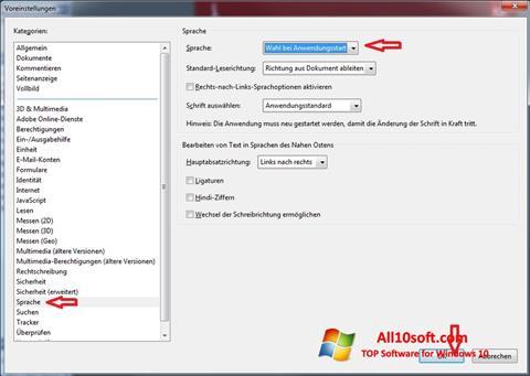 Skjermbilde Adobe Reader Windows 10