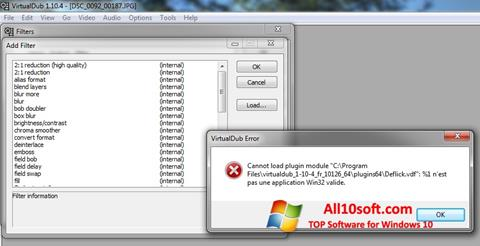 Skjermbilde VirtualDub Windows 10