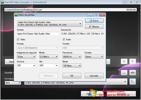 Skjermbilde Free MP4 Video Converter Windows 10